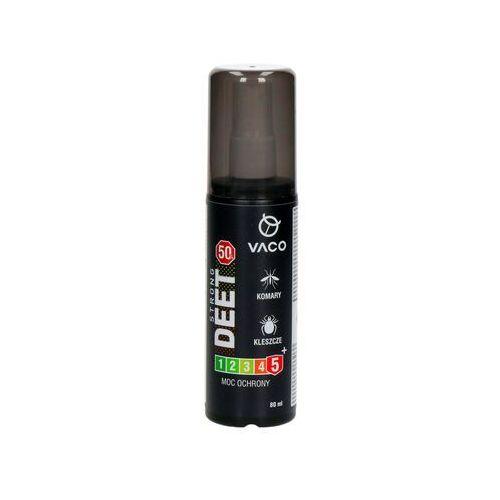 Vaco Środek na kleszcze, komary i meszki strong 50% deet. preparat spray 80ml.