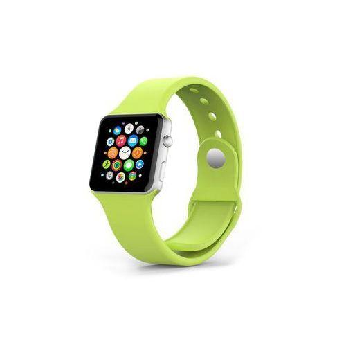 ZIELONY Sportowy silikonowy pasek do Apple Watch 38mm - Zielony
