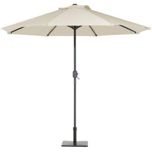 Parasol ogrodowy LED Ø266 cm beżowy RAPALLO