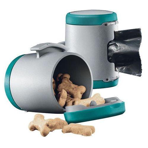 vario multi box - pojemnik na karmę i woreczki kolor: turkusowy marki Flexi