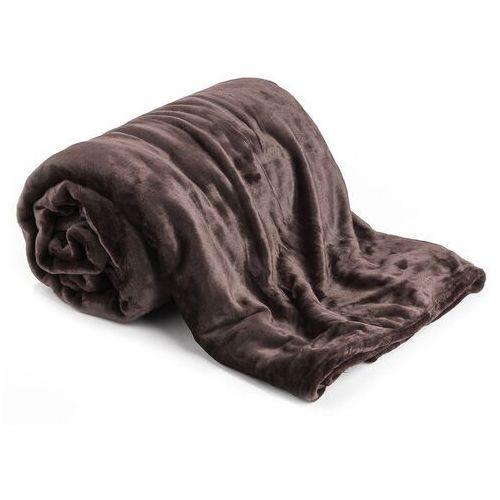 Koc XXL / Narzuta na łóżko ciemnobrązowa, 200 x 220 cm