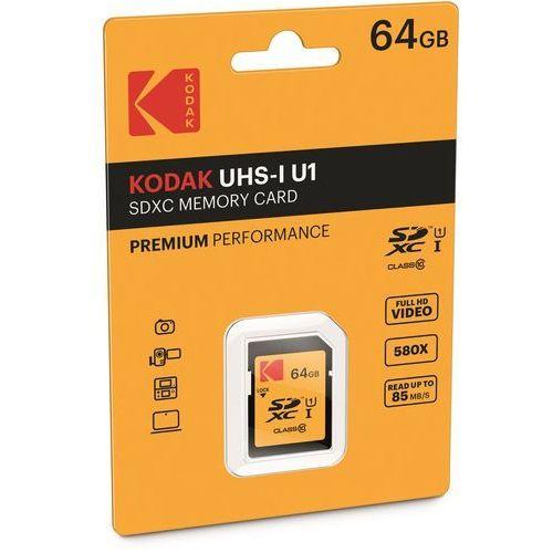 Karta pamięci Kodak SDXC 64GB EKMSD64GXC10K Darmowy odbiór w 20 miastach!