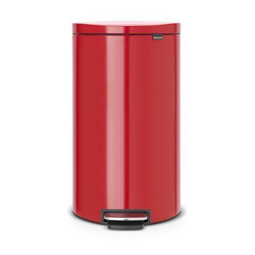 - kosz pedałowyflatblack+ silent - wiaderko plastikowe – 30l - czerwony passion marki Brabantia