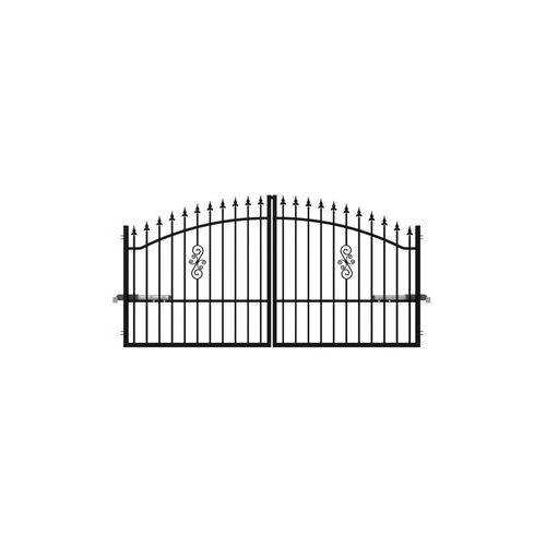 Brama dwuskrzydłowa PALERMO 300 x 150 cm z automatem POLARGOS (5902360123809)
