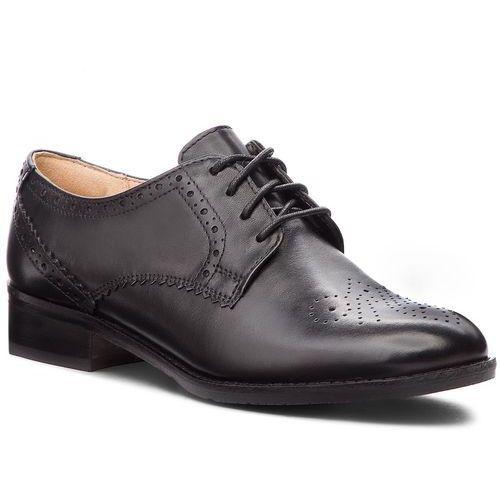 Oxfordy CLARKS - Netley Rose 261387714 Black Leather