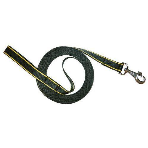 Chaba Smycz Treningowa taśma czarna z żółtym 25mm/5m (5905133633987)