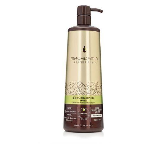 nourishing moisture - nawilżający szampon do włosów szorstkich 1000ml marki Macadamia