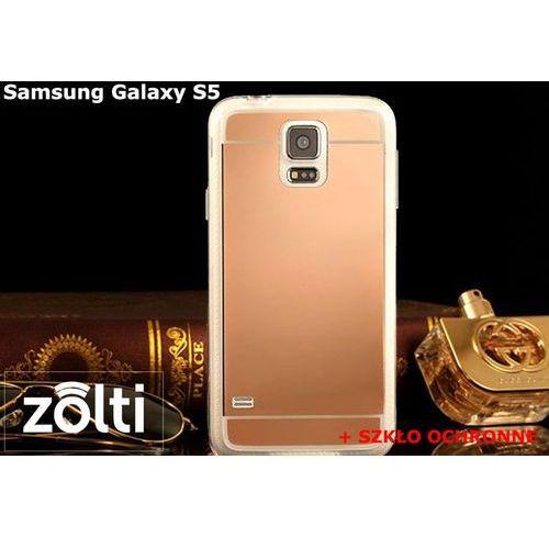 Zestaw | Slim Mirror Case Różowy + Szkło ochronne Perfect Glass | Etui dla Samsung Galaxy S5