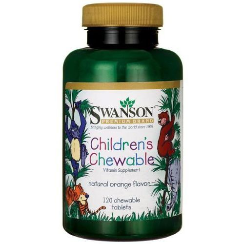 Tabletki Swanson Multiwitamina dla dzieci 120 tabletek do ssania