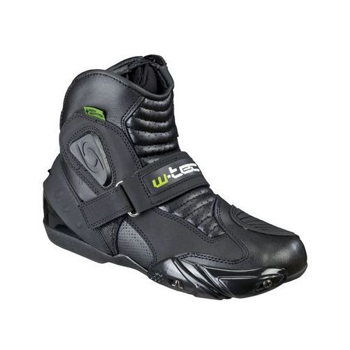 Skórzane buty motocyklowe tocher nf-6032, czarny, 45 marki W-tec