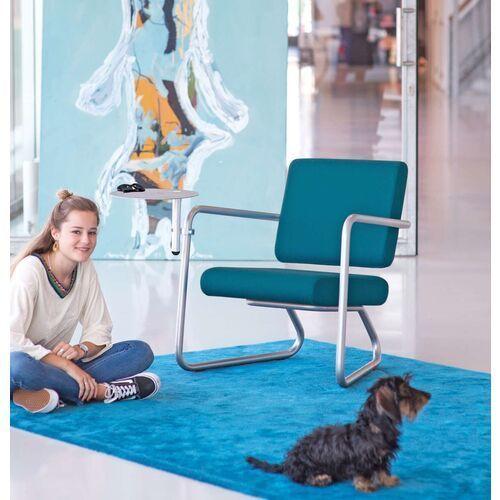 Lonc Steeler, fotel Dinamica Classica, zielony, rama srebrna, indoor P 055 1021, P 055 1021