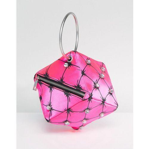 ASOS X Mary Benson Cube Clutch Bag - Pink, kolor różowy