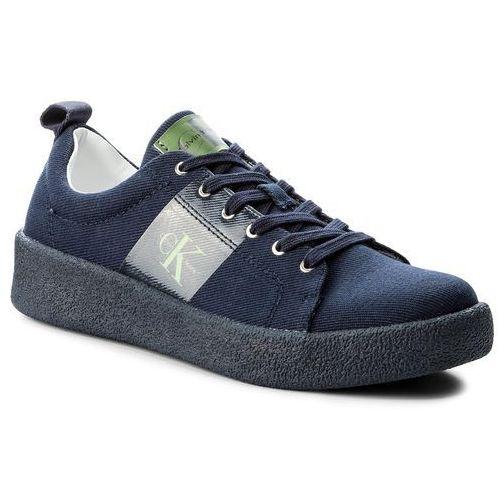 Sneakersy jeans - gerardo twill s0528 indigo, Calvin klein, 40-45