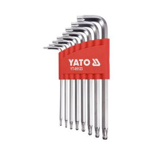 Yato Zestaw kluczy torx z kulką długie 8cz. t9-t40 yt-05123 - zyskaj rabat 30 zł
