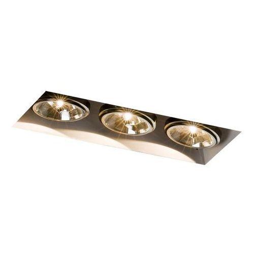 - oprawa stropowa wpuszczana potrójna - beta - ciemny brąz - ciemny brąz marki Kaspa