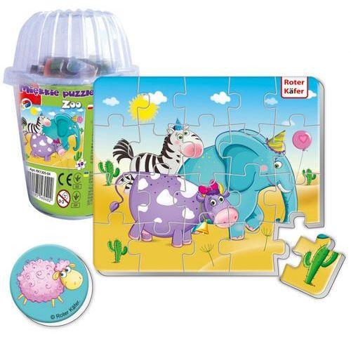 Magnesy piankowe puzzle Zoo w kubku, RK1305-04