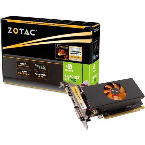 geforce gt730 4gb ddr5 64 bit - produkt w magazynie - szybka wysyłka! marki Zotac