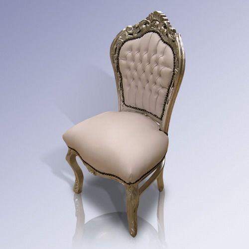 Barokowe, dekoracyjne krzesło z serii Kair