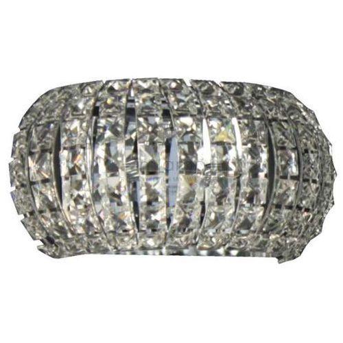 Zumaline Kinkiet lampa ścienna antarctica w0174-02s kryształowa oprawa półokrągła glamour crystal przezroczysta (2011001569579)