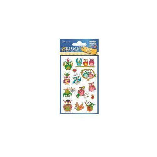 Naklejki brokatowe - Sowy (4004182560662)