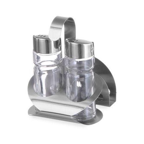 Komplet do przypraw 3-częściowy - solniczka, pieprzniczka, serwetnik | HENDI, 465318