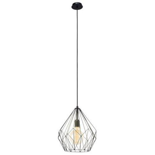 lampa wisząca VINTAGE CARLTON - 31 cm czarna, EGLO 49257