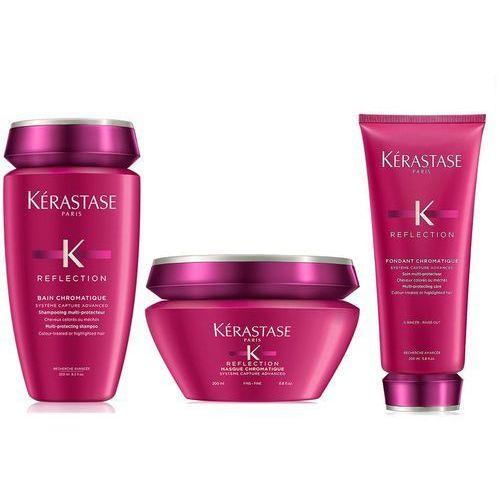 Kerastase chromatique   zestaw do włosów cienkich i farbowanych: kąpiel 250ml + odżywka 200ml + maska 200ml (9753198542025)