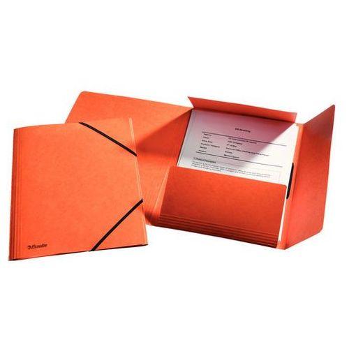 Teczka kartonowa z gumką Esselte Rainbow pomarańczowa