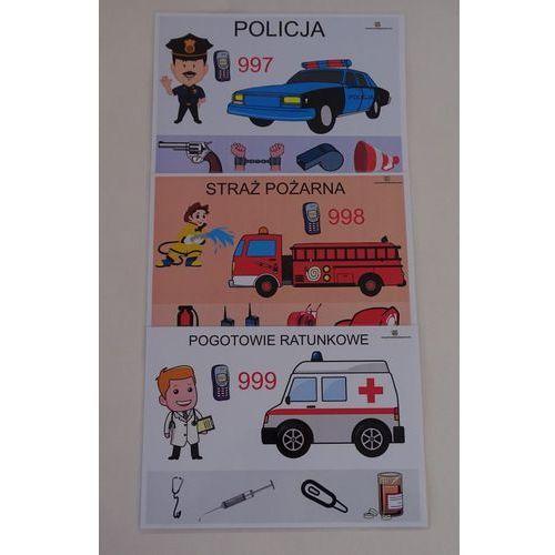 Numery alarmowe - karty edukacyjne marki Bystra sowa