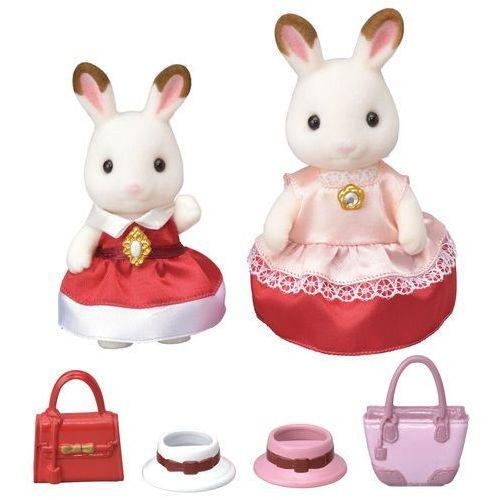 Sylvanian families town - zestaw dwóch elegancko ubranych królików 6001 marki Epoch