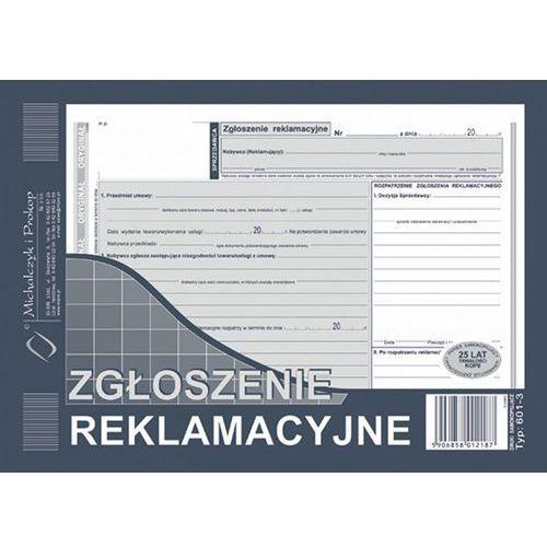 Michalczyk i prokop Zgloszenie reklamacyjne michalczyk&prokop 601-3 - a5 (oryginał +2 kopie)