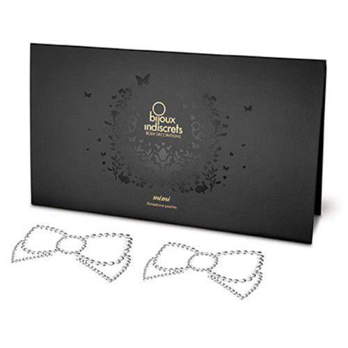 Nakładki na sutki -  mimi bow silver kokarda srebrna od producenta Bijoux indiscrets