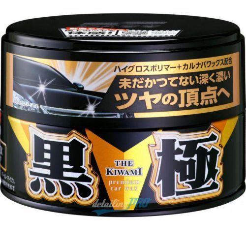 Soft99  kiwami black hard wax hybrydowy wosk z carnaubą wysoki połysk ciemne lakiery 200g