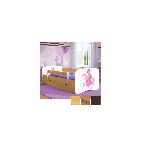 Łóżko dziecięce z materacem KSIĘŻNICZKA na KONIKU, biały-drewno