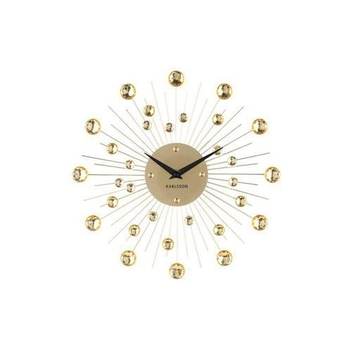 Zegar ścienny Sunburst Crystal gold by Karlsson, kolor żółty