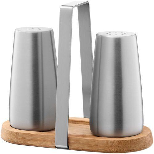 Solniczka i pieprzniczka z bambusową podstawą Bevo Zack (20875) (4034398208751)