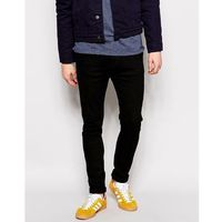 leon slim drop crotch black rinse wash jean - black marki Dr denim