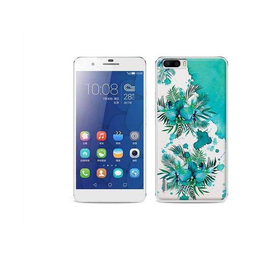 Fantastic Case - Huawei Honor 6 Plus - etui na telefon Fantastic Case - turkusowa orchidea (Futerał telefoniczny)