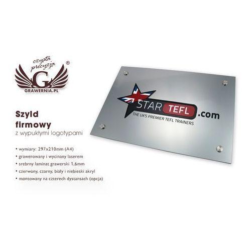 Grawernia.pl - grawerowanie i wycinanie laserem Szyld z wypukłym logo twojej firmy - sz023 - wym. 297x210mm (a4)