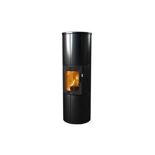 Kominek wolnostojący Lotus Maestro Kachel Magic Door, kolor czarny