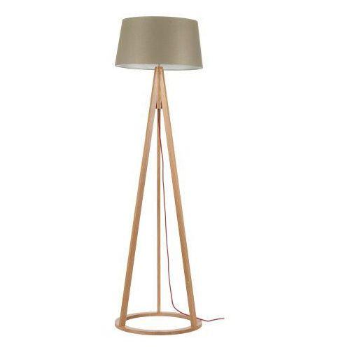 Spot light Lampa podłogowa konan dąb/czerwony/szaro-brązowy e27 60w