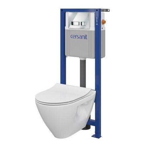 Zestaw podtynkowy WC Cersanit Mille z deską wolnoopadającą przycisk chrom, SZWZ1006116282