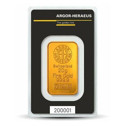Pamp, argor-heraeus, münze Österreich, perth mint 20 g sztabka złota - 15dni