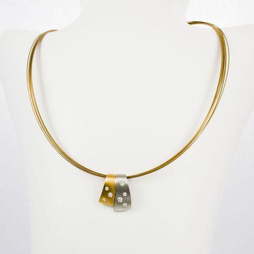 Złoty łańcuszek L982, kolor żółty