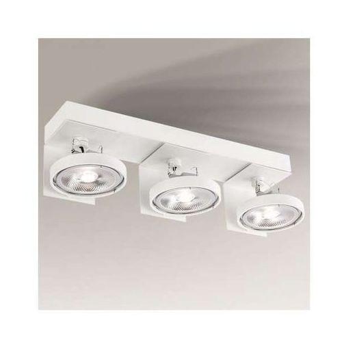 Shilo Plafon lampa sufitowa hamada 2229/g53/bi regulowana oprawa metalowa spot reflektorowy biały