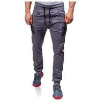 Spodnie joggery męskie grafitowe denley 0706 marki Athletic