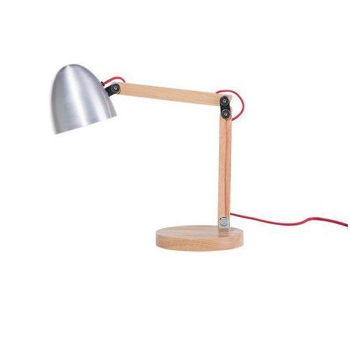 Beliani Lampa biurowa srebrna - stołowa - nocna - gabinetowa - veleka (7105277181681)