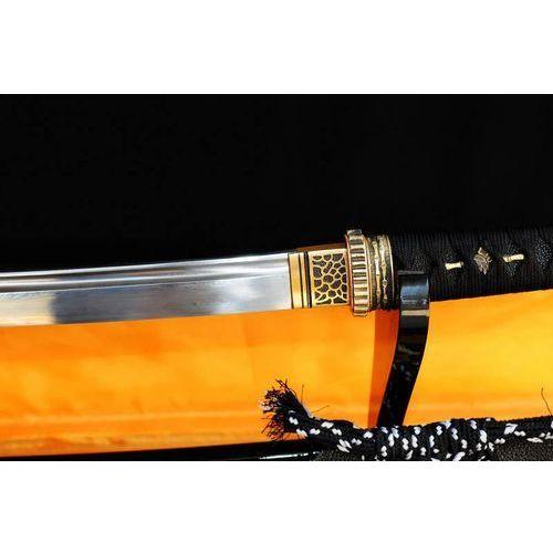 MIECZ SAMURAJSKI WAKIZASHI, STAL WYSOKOWĘGLOWA 1095 WARSTWOWANA DAMASCEŃSKA, R324 z kategorii miecze i akcesoria
