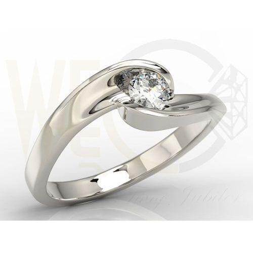 Węc - twój jubiler Pierścionek zaręczynowy z białego złota z brylantem model ap-8220b