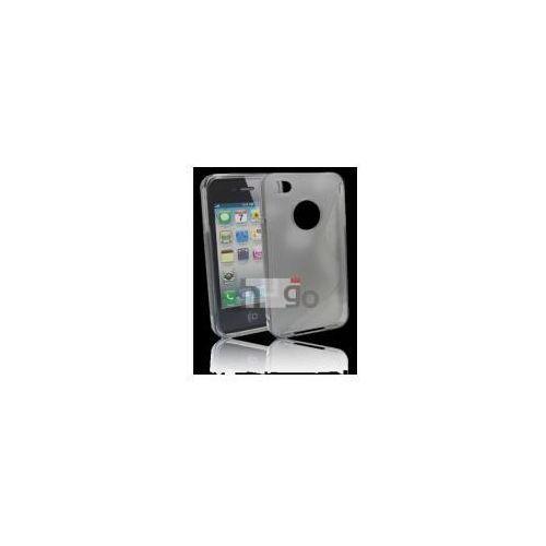 Tellsson Futerał back case s-line apple iphone 4, 4s szary przeźroczysty